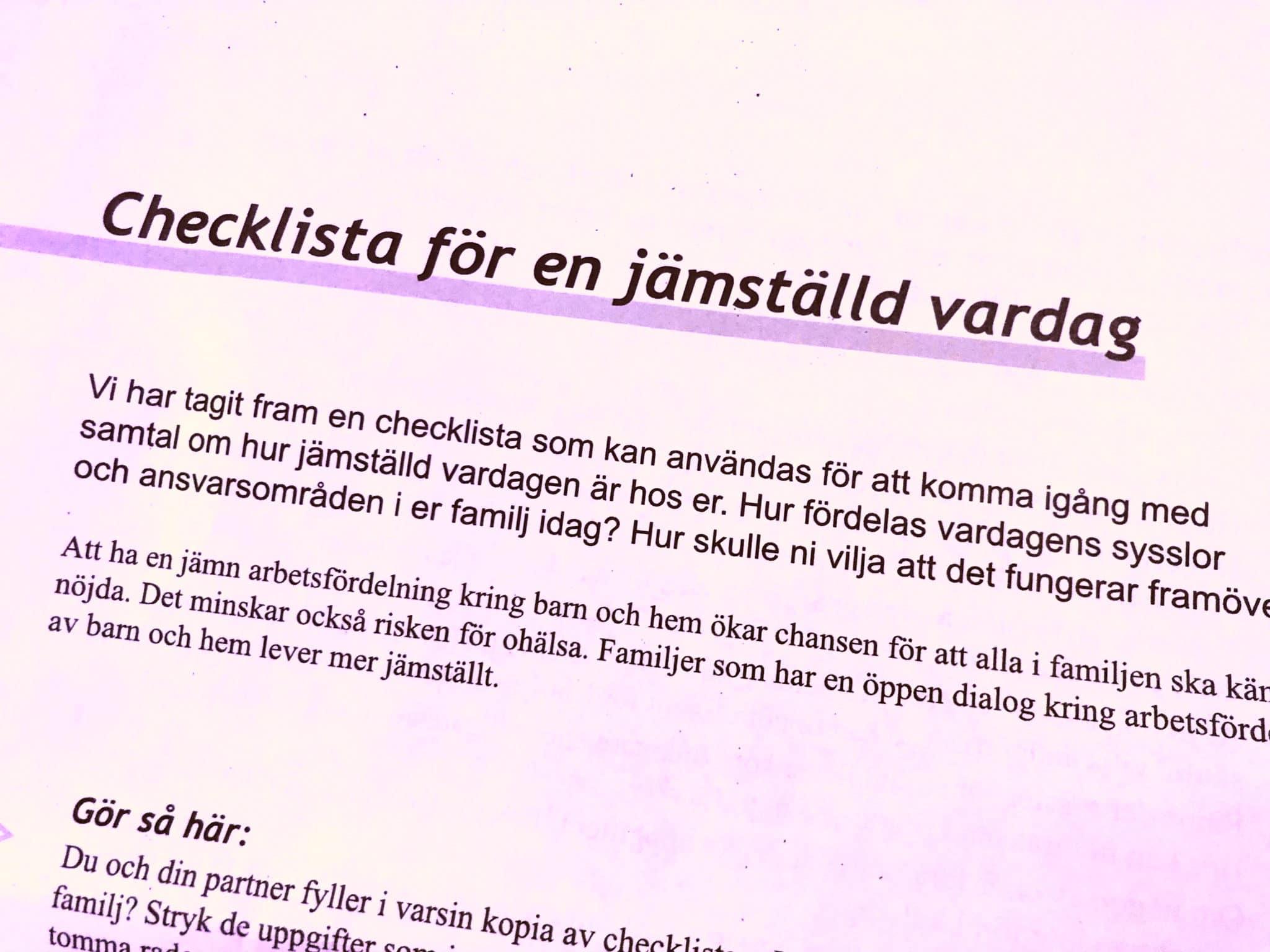 Jämställd vardag @RikaKvinnor.se